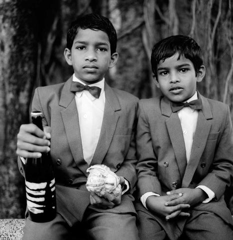 Brothers at a Local Feast in Loutolim - Goa, 1994,[product_collection],Tasveer,Karan Kapoor - Artisera