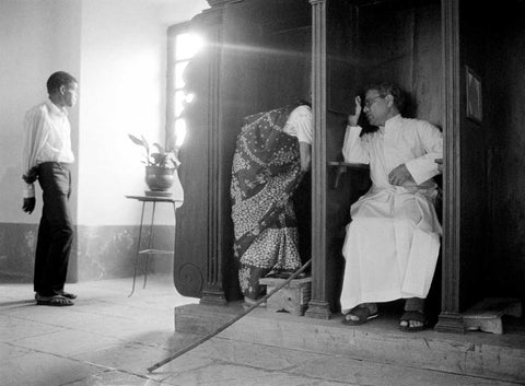 Confession at Rachol Seminary - Goa, 1994,[product_collection],Tasveer,Karan Kapoor - Artisera