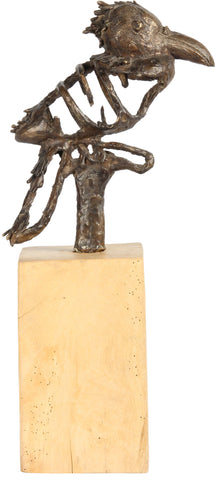 Crow on Wooden Base,[product_collection],The Great Eastern Home, - Artisera