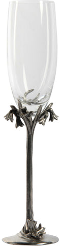 Champagne Glasses with Floral Stem (Set of 6),[product_collection],The Great Eastern Home, - Artisera