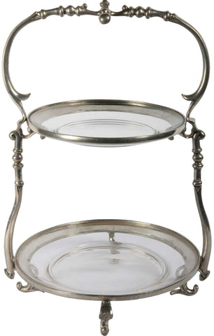 2 Tier Elegant Serving Platter,[product_collection],The Great Eastern Home, - Artisera