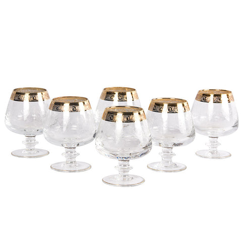 French Gold-Trimmed Glasses,[product_collection],Essajees, - Artisera
