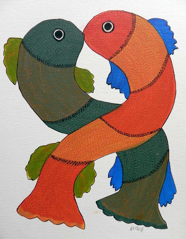 Gond - Untitled 06,[product_collection],Must Art,Durga Bai - Artisera