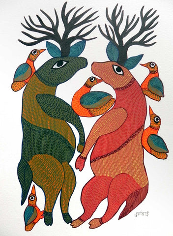 Gond - Untitled 07,[product_collection],Must Art,Durga Bai - Artisera