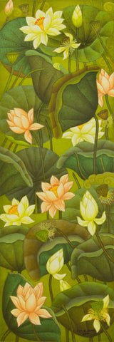 Lotus Series - IV,[product_collection],Artisera Paintings,Roy K. John - Artisera