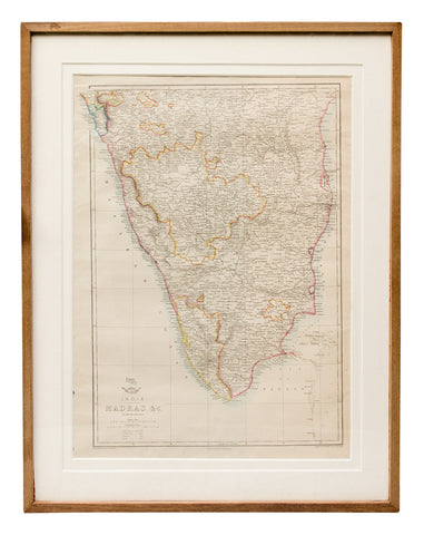 Map of Madras and Surrounds, 1863