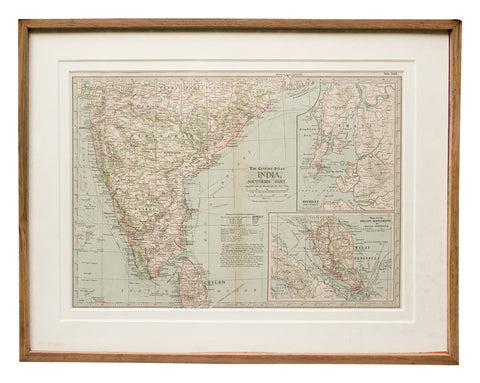 Map of Southern India, 1897