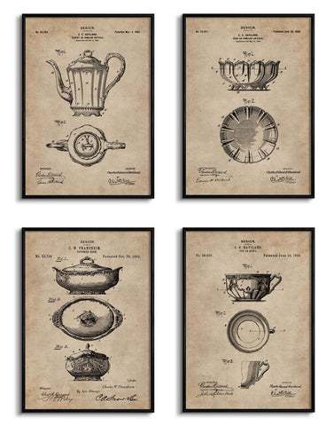 Crockery Series Patent Documents (Set of 4)