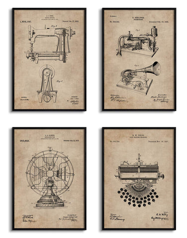 Everyday Objects Patent Documents (Set of 4)
