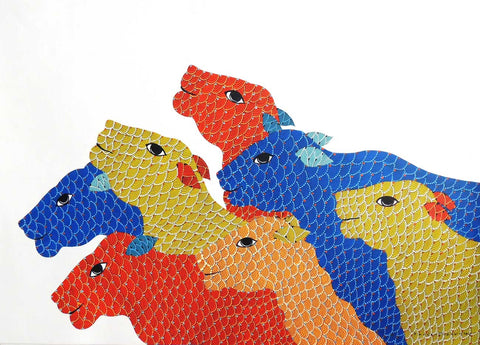 Gond - Untitled 23,[product_collection],Must Art,Venkat Raman Singh Shyam - Artisera