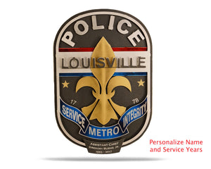 Louisville Metro Police Badge PERSONALIZED