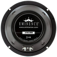 Eminence Alpha-8MRA 8-inch Sealed Back Speaker 125 Watts RMS 8-ohm rear back view