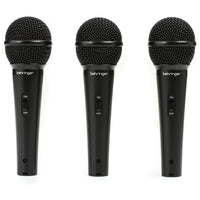 Behringer ULTRAVOICE XM1800S 3-Pack Dynamic Cardiod Vocal and Instrument Microphones 0689076749671 4033653080262 mic only