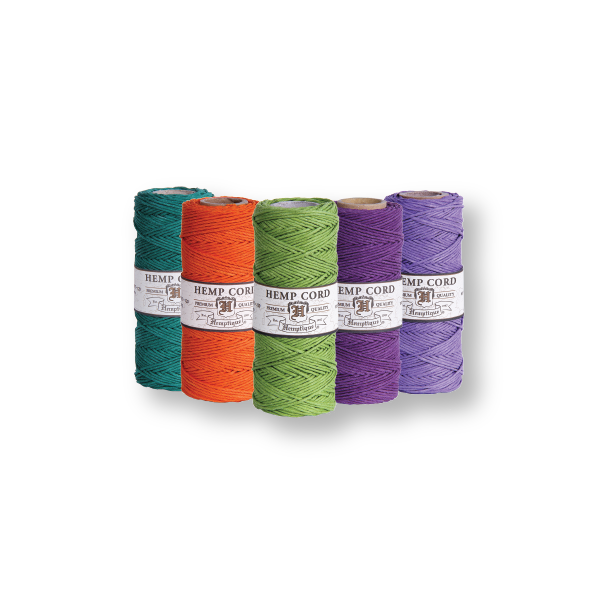 Hemp Cord #20 1mm - 5 Spools - Choose Your Colors - Hemptique