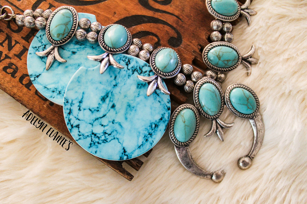 Turquoise Obsessed - Car Coasters