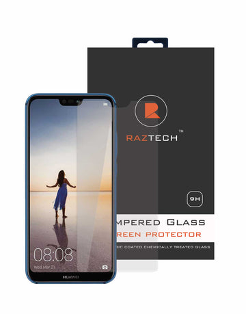 Huawei P20 Lite - Tempered Glass Screen Protector - Curved, Extra Strength Glass