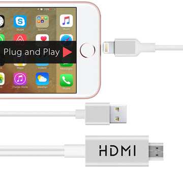 MHL Kit to HDMI Adaptor for Apple iPhone and iPad Lightning Connector