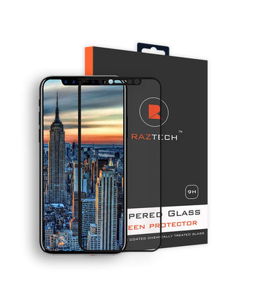 Pack of 2 - Tempered Glass Screen Protector for Apple iPhone 8 x 2- by Raz Tech