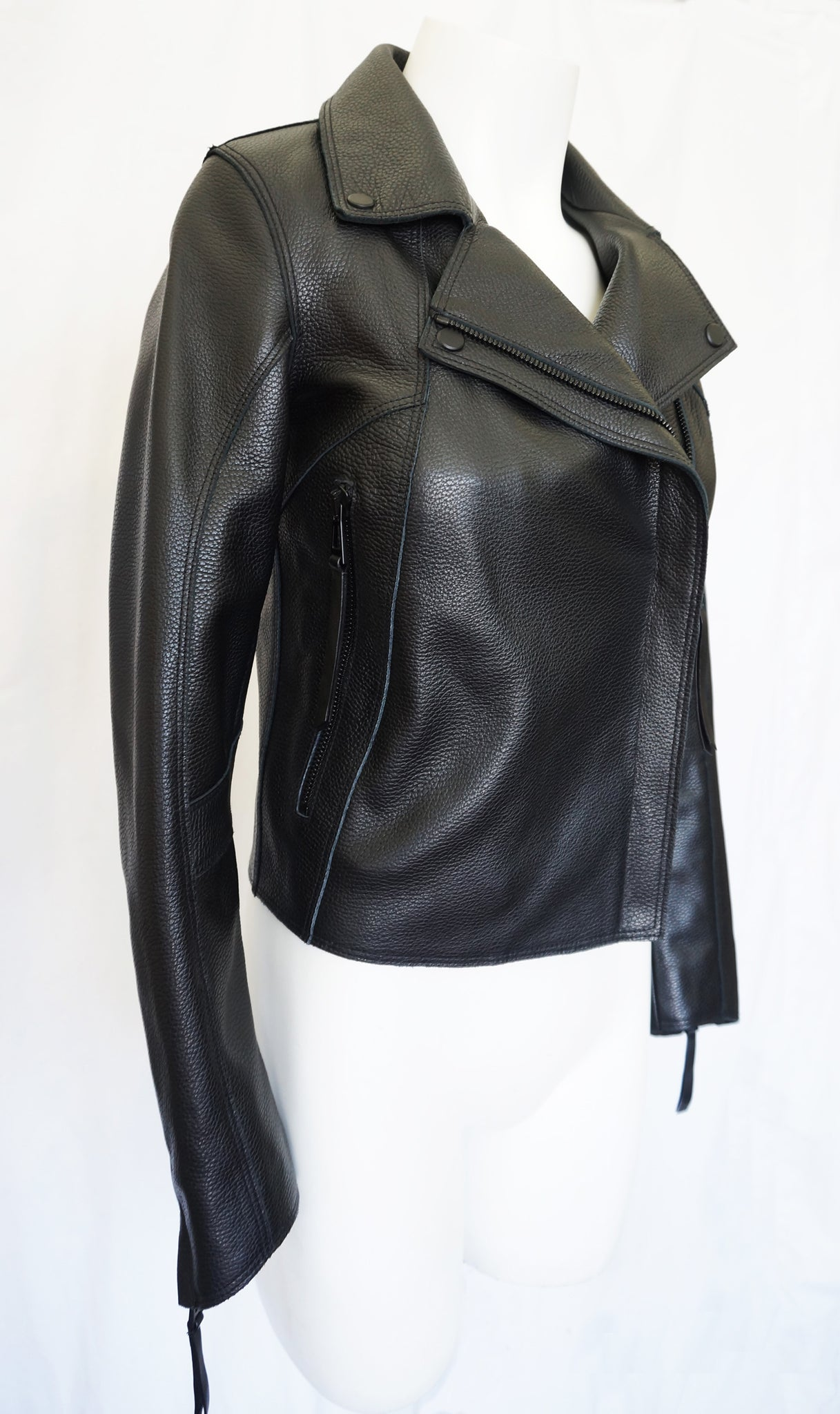 The Face Black Leather Jacket