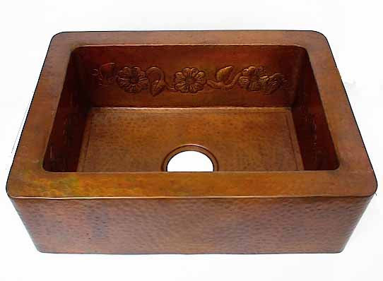 Hammered Copper Apron Sinks