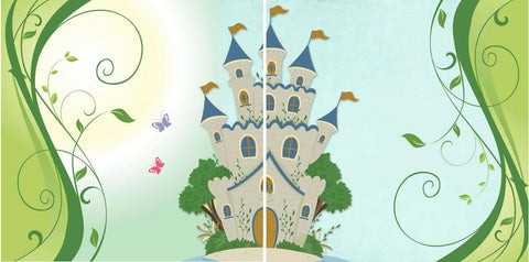 "Disney FAIRYTALE CASTLE 12""X12"" Scrapbook 2 Paper Sheet - Scrapbook Kyandyland"
