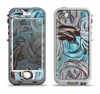 The Abstract Subtle Toned Floral Strokes Apple iPhone 5-5s LifeProof Nuud Case Skin Set