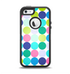 The Vibrant Colored Polka Dot V2 Apple iPhone 5-5s Otterbox Defender Case Skin Set