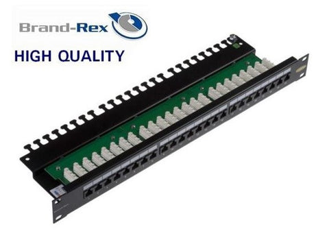 BrandRex Cat6Plus 24 way Patch Panel unscreened LSA-black