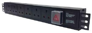 Horizontal 1.5U 13A UK PDU to 3m lead: 8-way 13 amp-Not switched