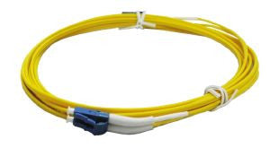 3.5m LC-LC singlemode - 2mm duplex patchcord c/w 45 degree boot one end