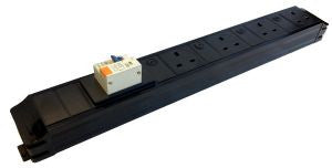 Under Desk P-Pack 4-way individually fused power feed unit with 16A RCBO