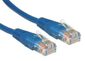 0.25 m Blue Cat5e Patch Lead  24 AWG  100MHz