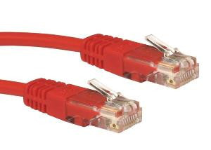 0.25 m Red Cat5e patch lead