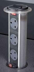 3 x UK sockets for Kitchens IP54 rated master switch 2-metre lead to 13A fused plug