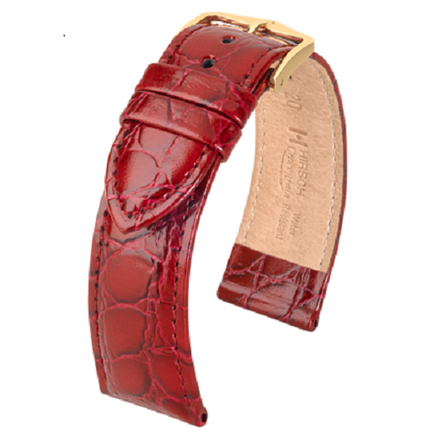 Crocograin Leather Watch Strap
