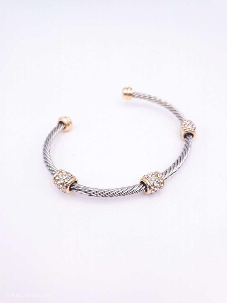 Rosie Mixed Metal Cuff Bracelet