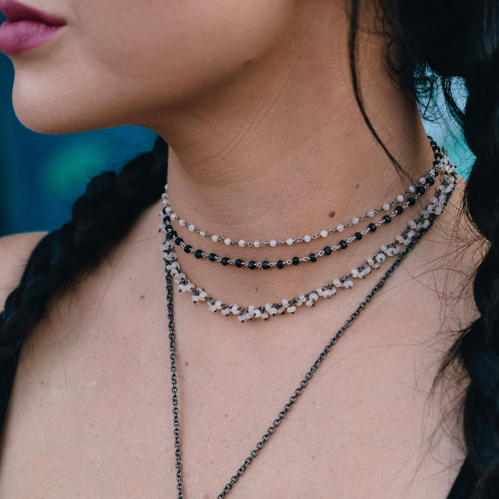 "The ""Moon Child"" Rainbow Moonstone Choker"