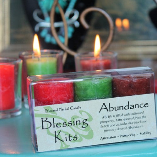 Reiki Charged Hand Poured Essential Oil Infused Abundance Blessing Candle Kit