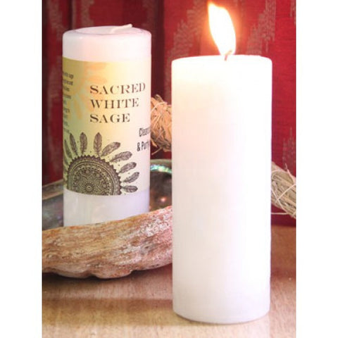 Candle-Sacred White Sage Reiki Charged  Hand Poured Essential Oil World Magic Candle