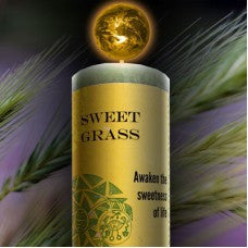 Sweet Grass Hand Poured Essential Oil & Herb Infused Healing Candle