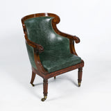 A VERY FINE PAIR OF REGENCY LIBRARY CHAIRS - REF No. 8007