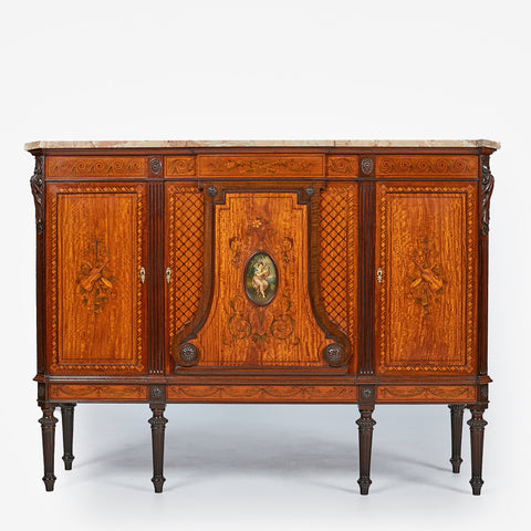 A SUPERB 19TH CENTURY DRAWING ROOM CABINET ATTRIBUTED TO COLLINSON AND LOCK - REF No. 4004