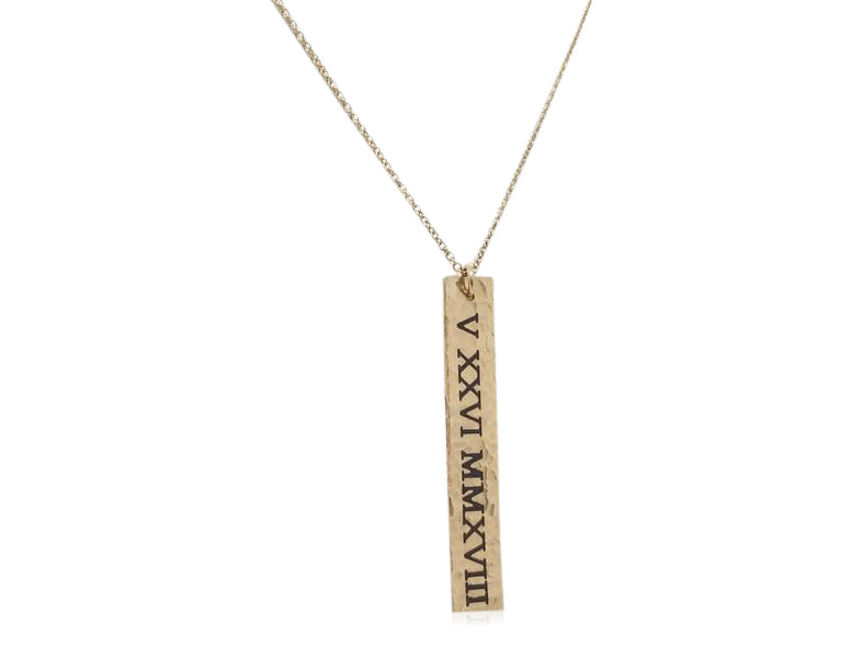 Roman Numeral Necklace (customizable)