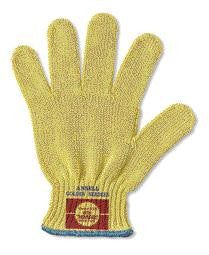 Ansell GoldKnit - Medium Weight - Kevlar String Knit - Cut Resistant Glove - Size 7