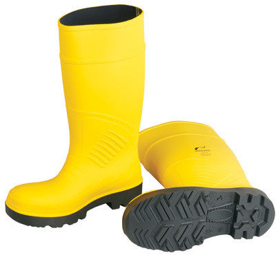 "Onguard Industries Size 13 Yellow 15"" Polyurethane Boots With Abrasion Resistant Outsole And Steel Toe"