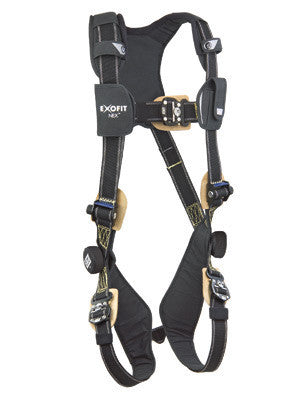 DBI/SALA Large ExoFit NEX Arc Flash Nomex/Kevlar Web Full Body Harness With PVC Coated Aluminum Back And Side D Rings, Locking Connect Buckles And Comfort Padding