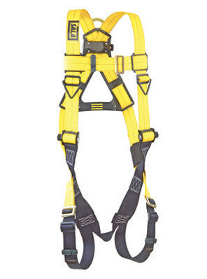 DBI/SALA Universal Delta Vest Style Full Body Size Harness With Back D-Ring, Pass Thru Buckle Leg Straps