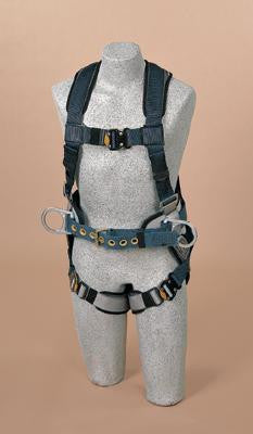 DBI/SALA Large ExoFit Construction Vest Style Harness With Back D-Ring, Sewn-In Back Pad And Belt With Side D-Rings And Quick-Connect Buckles