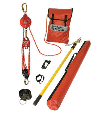 Miller 100' QuickPick Premium Rescue Kit (Includes Backup Braking System, Pulleys, Rope, Rescue Pole, Carabiners, Cross-Arm Anchor, Tool Lanyard, Kit Bag And Pole Bag)