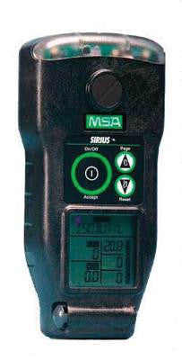 MSA Combustible Gases, Oxygen, Carbon Monoxide And Hydrogen Sulfide Sirius Gas Monitor With Rechargeable Battery, Sampling Line, Probe, Carry Line With Belt Clip And Cordura Jacket With Harness